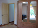 Fitted wardrobes with mirrors in all bedrooms