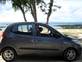 Popular rental car in Mauritius - The Hyundai I10
