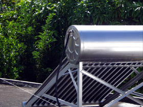 Typical solar water heater in Mauritius