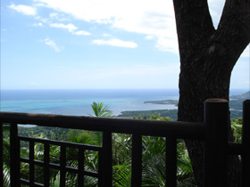 View from Le Chamarel Restaurant
